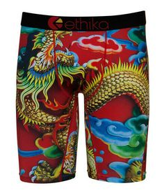 e936d668ae09 Ethika Mens The Staple Underwear Boxer Briefs Medium Red Dragon Print - M  #fashion #
