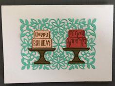Kijk eens wat een prachtige kaart Sirpa van der Heijden heeft gemaakt met de januari kleurencombinatie. Die achtergrondstans was me niet eerder opgevallen maar nu heb ik hem nodig! wat een leuke combinatie met de Piece Of Cake bundle. Op foto 2 heeft ze nog wat Rhinestones toegevoegd. Perfect. #prulleke #prullekekleurencombinatie #stampinupnederland #pieceofcakestampset #cakebuilderpunch #floweringvinedies #stampinupdemonstratrice #kleurencombinatie #echtepostiszoveelleuker #stampinupdemo Stampin Up, Birthday, Happy, Birthdays, Stamping Up, Ser Feliz, Dirt Bike Birthday, Being Happy, Birth Day