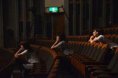 Negicco「Negicco First Tour 『Never Give Up Girls!!!&Rice&Snow』at 新潟県民会館 大ホール」ジャケット撮影時の様子。