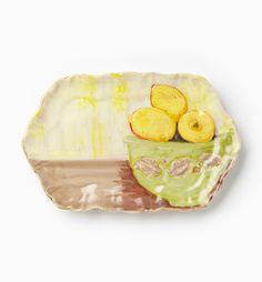 VIETRI - Sara's Flowers Lemon Small Rectangular Tray