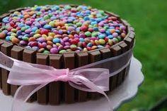 Kvikklunsj kake, men med blå farger!!