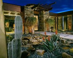 Modern landscape in Arizona