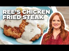 How to Make Ree's Chicken Fried Steak Chicken Fried Steak Recipe Pioneer Woman, Chicken Fried Steak Easy, Chicken Friend Steak, Country Fried Steak Recipe, Fried Chicken Gravy, Cube Steak Recipes, Beef Recipes, Cooking Recipes, Grill Recipes