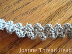 Thread Head: Intermediate Romanian Point Lace Tutorial - crochet braid/cord pattern