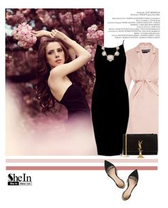 """Shein 4/10"" by mell-2405 ❤ liked on Polyvore featuring Metropolis, Rochas, J.Crew, Yves Saint Laurent, women's clothing, women, female, woman, misses and juniors"