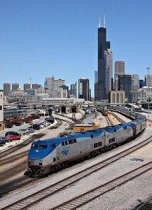 Chicago was named one of the best places to visit in 2014 by train!