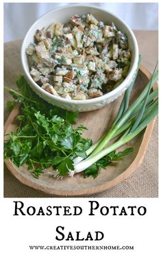 It's a keeper! This roasted potato salad is easy to make, but tastes gourmet. Roasted the potatoes instead of boiling gives this salad a rich, wonderful flavor. This is hands down my favorite potato salad! www.creativesouthernhome.com