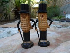 Planters Peanut 1950 Salt and Pepper Shaker Set by BaublesAbode