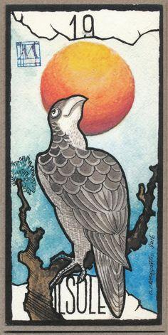 Tarocchi Hokusai - Meneghello Hokusai Tarot - XIX Sun