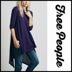 "FREE PEOPLE MINI TUNIC DRESS  NEW WITH TAGS   ***Model photos utilized in this listing were found on www.lyst.com Free People Mock Neck Swing Top Tunic A-Line  Mini  * Relaxed & flowy fit; Lightweight loose knit fabric,  semi pleated  * Mock neck turtleneck long sleeves  * Lightly 'washed feel'  * About 33"" long  * Hem drapes longer on sides  Fabric: 53% Cotton, 37% & 10% Rayon Color: Purple Deep Lilac   No Trades ✅Offers Considered*✅ *Please use the blue 'offer' button to submit an offer…"