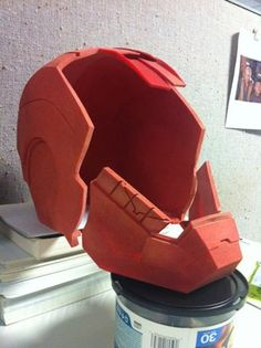 Printing an Ironman Helmet : 11 Steps (with Pictures) - Instructables 3d Printed Objects, Iron Man, 3d Printing, Helmet, Superhero, Prints, Pictures, Photos, Motorcycle Helmet