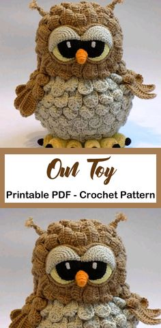 Make a Owl - Amigurumi - Knitting Ideas Crochet Giraffe Pattern, Owl Crochet Patterns, Crochet Motifs, Owl Patterns, Knitting Patterns, Amigurumi Patterns, Crochet Sloth, Crochet Deer, Crochet Animals