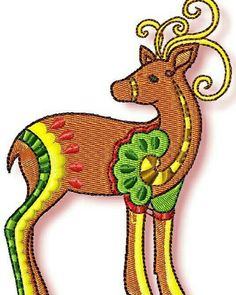 http://www.pamelasembroidery.com/animals-embroidery-designs/deer-embroidery-designs/ornamental-reindeer-1340