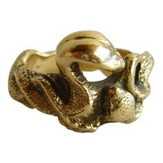 1stdibs - BOB BURKETT Gold Double Snake Woman's Ring explore items from 1,700  global dealers at 1stdibs.com