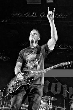 Image has been converted to black and white.) American singer and guitarist Mark Tremonti performs live during a concert at the Columbia Theater on June 2016 in Berlin, Germany. Mark Tremonti, Alter Bridge, Myles Kennedy, Escape The Fate, Three Days Grace, Celebration Quotes, Women In History, Funny Design, American Singers