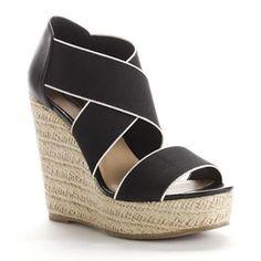 Candie's Stretch Wedge Espadrille Sandals - Women