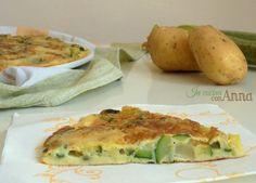 Eccovi la frittata alle zucchine,patate e scamorza un secondo piatto molto saporito,semplice,ricco e completo