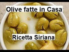 OLIVE SIRIANE come farle in casa - YouTube Hors D'oeuvres, Pickles, Appetizers, Vegan, Cookies, Fruit, Vegetables, Youtube, Food
