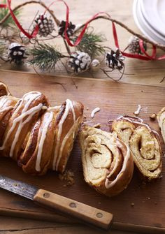 We're not sure how to spell it or say it, but Paul's delicious cinnamon swirl Kanellangd is a Christmas sticky bun worth baking. Clementine drizzle is the icing on the cake.