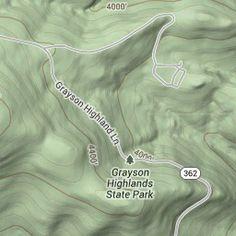 google maps: Grayson Highlands