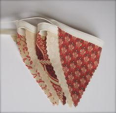 Fabric Bunting Wall Hanging Flags Home Decor Country by NykkiMakes, $10.00