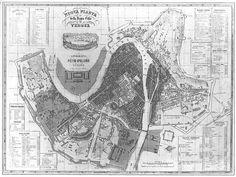 Mappa di Verona nella grande  inondazione del 1882, con evidenziate le aree sommerse (zone scure) Star Fort, Verona Italy, History, Grande, September, Home, I Adore You, Italia, Pictures