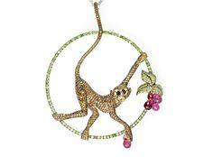 Chopard monkey pendant