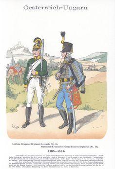 Band V #40.- Österreich-Ungarn. Leichtes Dragoner-Regiment Levenehr Nr. 14. Slavonisch-Kroatisches Grenz-Husaren-Regiment (Nr. 12). 1798-1801.
