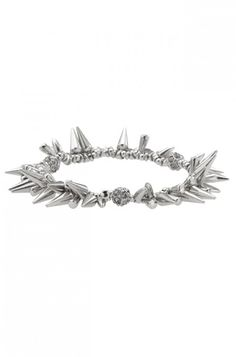 The Renegade Cluster Bracelet in silver from Stella & Dot...a great layering piece for your arm party!  Shop in my personal trunk show and earn a chance to win a FREE pair of Vintage Crystal Studs from me!  Use this link to shop:  http://www.stelladot.com/ts/ok836