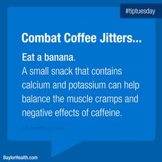 We're all familiar with the jittery side effects of drinking caffeine. But could a common fruit actually help curb those side effects? Caffeine Effects, Coffee Jitters, Healthy Cooking, Healthy Eating, Effects Of Drinking, What You Eat, Eating Well, Healthy Lifestyle, Banana