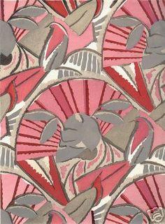 Art Deco motif by  P.Dumas, 1925, pochoir.