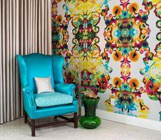 Casinha colorida: Mid Century Modern eclético na Florida