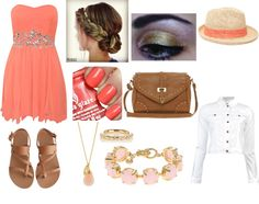 """""""beach date"""" by allibair ❤ liked on Polyvore"""