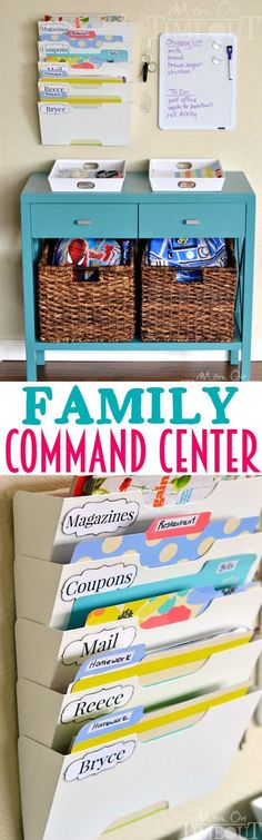 Banish the clutter and get the whole family organized with this DIY Family Command Center! | MomOnTimeout.com