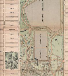 1868 Central Park Map
