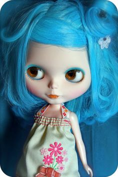 Custom Blythe doll OOAK RBL Cloud 9 Bowl. €180.00, via Etsy.
