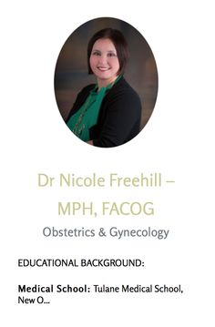 Dr. Nicole Freehill comes all the way from Tulane Medical School! She is among our many talented practitioners. Visit our website to learn more and don't forget to schedule your appointment with us!