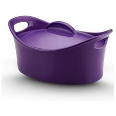 Casserole Oval Covered in Purple