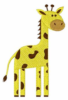 giraffe designs in machine embroidery | Machine Embroidery Downloads: Designs & Digitizing Services from ...