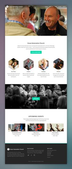 Grace Generation Church Website on Behance