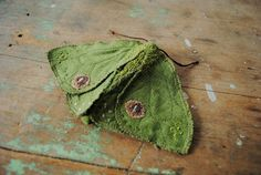 Margeaux Davis - Moth fabric brooch / by willowynn