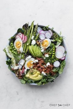 How to Make a Simple Salad - With a strong leafy base, crunchy bits and a creamy dressing, our 6 tips to layering a simple salad is the perfect recipe for spring. #salad #simplerecipe #howto #saladrecipe #realfood #foodphotography #foodstyling