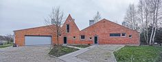 Dogma House - Grzegorz Stiasny/ARE, Nadarzyn, 2009 Museum Of Modern Art, Poland, Brick, Cabin, House Styles, Places, English Resources, Houses, Home Decor