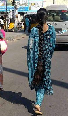 Long Hair Indian Girls, Indian Long Hair Braid, Bun Hairstyles For Long Hair, Indian Hairstyles, Girl Hairstyles, Cut My Hair, Long Hair Cuts, Long Hair Styles, Beautiful Braids