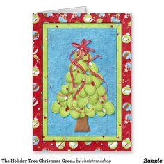 The Holiday Tree Christmas Greetings Greeting Card