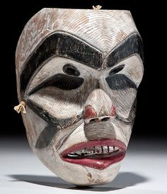 Heiltsuk Ghost Mask, NW Coast Nation