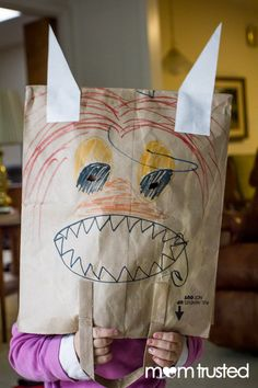 """""""Where the Wild Things Are"""" Mask Project for Kids. Cute!"""