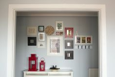 CUTE FRAME WALL WITH IKEA MIRRORS (PAINT WHITE)