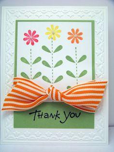 whimsical flower card