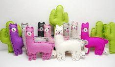Cactus and llama miniature animals alpaca gifts llama plush